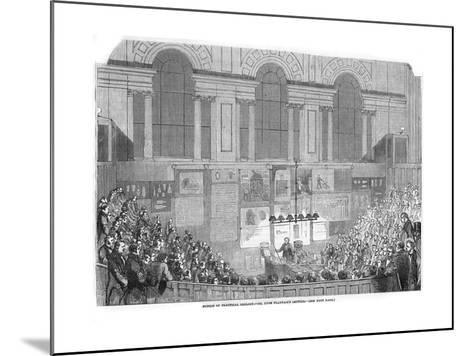 Lyon Playfair, Scottish Chemist and Politician, Lecturing, 1852--Mounted Giclee Print