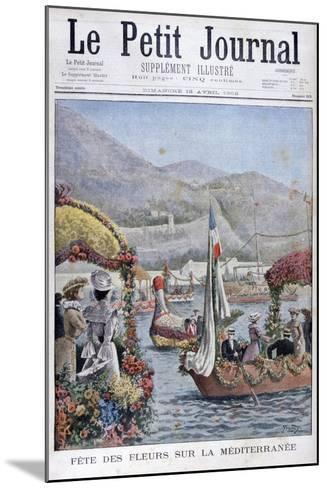 The Festival of Flowers on the Mediterranean, 1902- Yrondy-Mounted Giclee Print