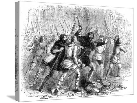 Revolt of the Citizens of London Against Matilda, 1141--Stretched Canvas Print