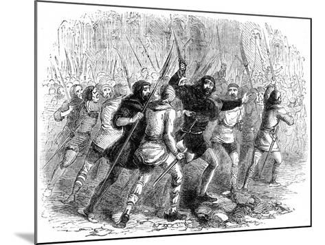 Revolt of the Citizens of London Against Matilda, 1141--Mounted Giclee Print