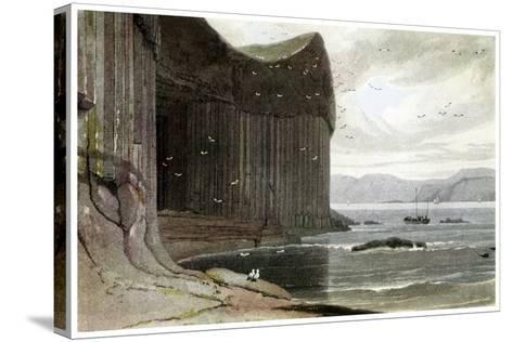 Fingal's Cave, Staffa, Outer Hebrides, Scotland. 1814-William Daniell-Stretched Canvas Print