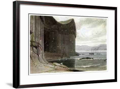 Fingal's Cave, Staffa, Outer Hebrides, Scotland. 1814-William Daniell-Framed Art Print