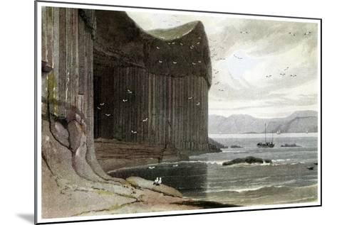 Fingal's Cave, Staffa, Outer Hebrides, Scotland. 1814-William Daniell-Mounted Giclee Print