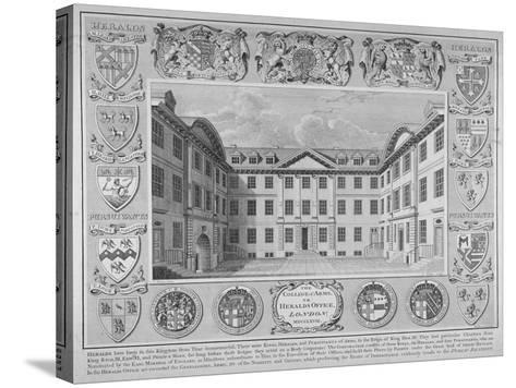 College of Arms, City of London, 1768-William Sherwin-Stretched Canvas Print