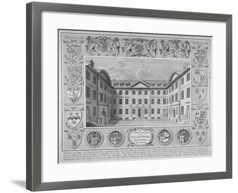 College of Arms, City of London, 1768-William Sherwin-Framed Art Print