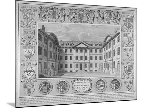 College of Arms, City of London, 1768-William Sherwin-Mounted Giclee Print