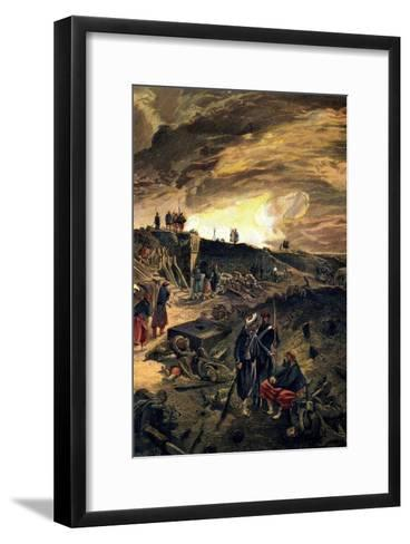 After the Taking of Malakoff on 8th September 1855, C1855-William Simpson-Framed Art Print