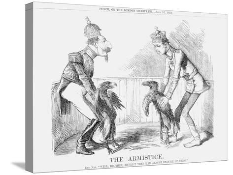 The Armistice, 1859--Stretched Canvas Print