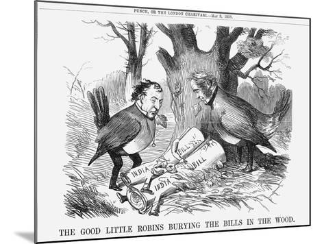 The Good Little Robins Burying the Bills in the Wood, 1858--Mounted Giclee Print
