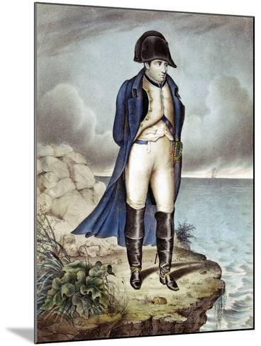 Napoleon I, Emperor of France, in Exile--Mounted Giclee Print