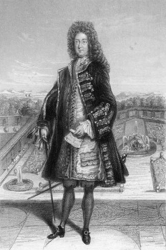 John Law, Comptroller General of France, 1720--Stretched Canvas Print