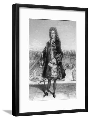 John Law, Comptroller General of France, 1720--Framed Art Print