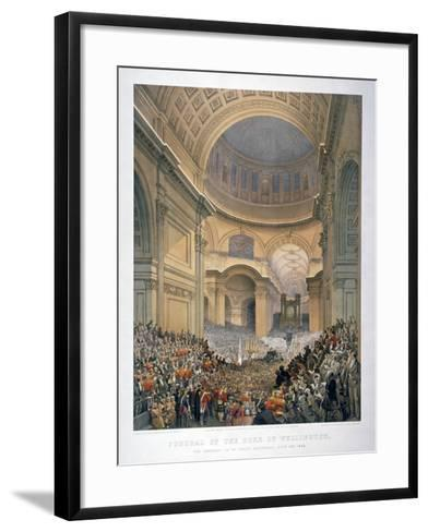 Interior of St Paul's Cathedral During the Funeral of the Duke of Wellington, London, 1852-William Simpson-Framed Art Print