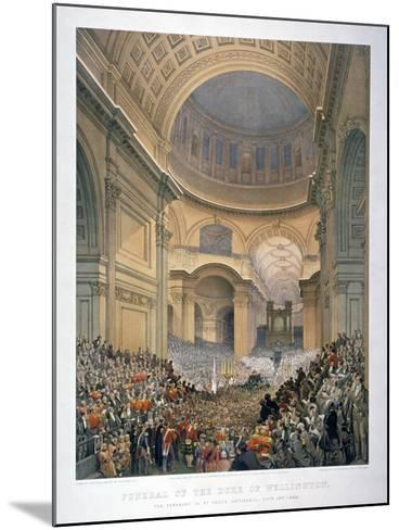Interior of St Paul's Cathedral During the Funeral of the Duke of Wellington, London, 1852-William Simpson-Mounted Giclee Print
