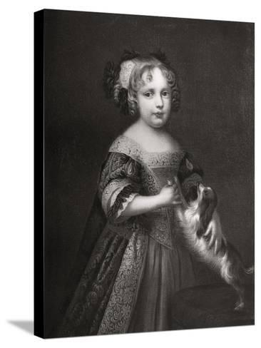 Princess (Later Quee) Anne, C1670-1675-John Riley-Stretched Canvas Print