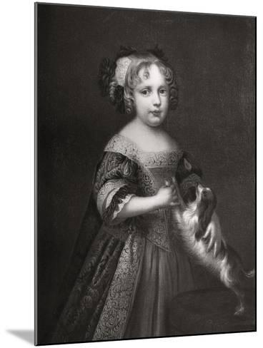 Princess (Later Quee) Anne, C1670-1675-John Riley-Mounted Giclee Print