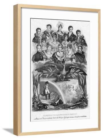 Napoleon Bonaparte and His Family, 1840--Framed Art Print