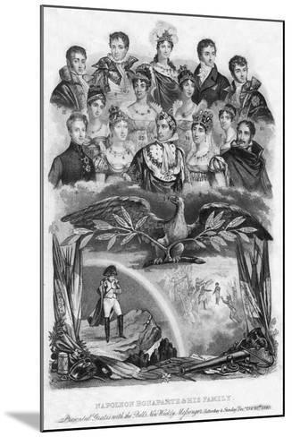 Napoleon Bonaparte and His Family, 1840--Mounted Giclee Print