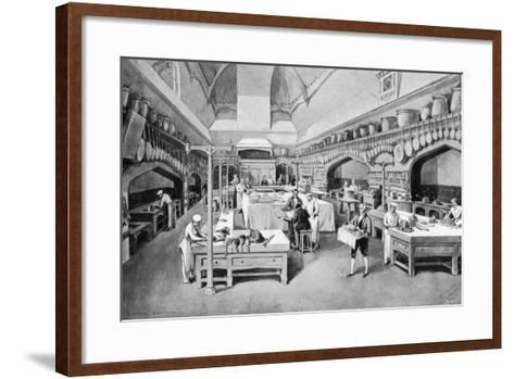 Windsor Castle Kitchen at Christmas, 1894-William Simpson-Framed Art Print