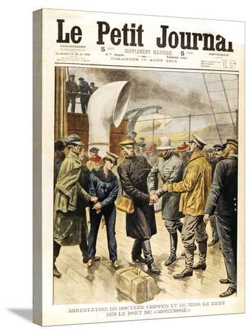 The Arrest of Dr Crippen and Ethel Le Neve, 1910--Stretched Canvas Print