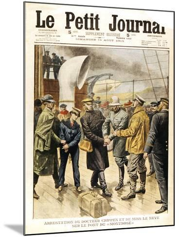 The Arrest of Dr Crippen and Ethel Le Neve, 1910--Mounted Giclee Print