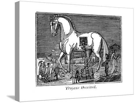 Trojans Deceived, 1830--Stretched Canvas Print