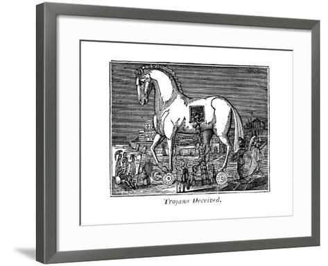 Trojans Deceived, 1830--Framed Art Print