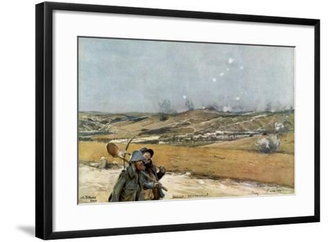 The Hills and Fort of Douaumont, Verdun, France, 18 March 1916--Framed Art Print