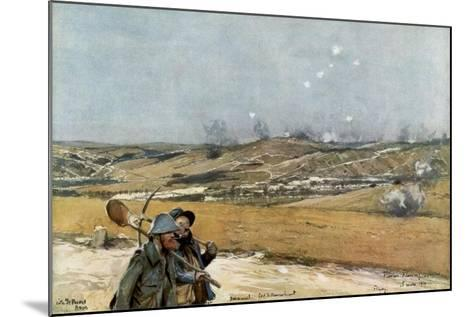 The Hills and Fort of Douaumont, Verdun, France, 18 March 1916--Mounted Giclee Print