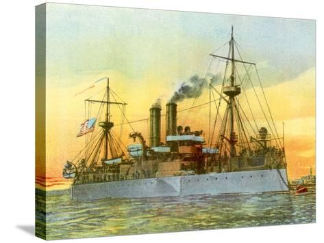 The Last Sunset of the 'Maine', 1898--Stretched Canvas Print