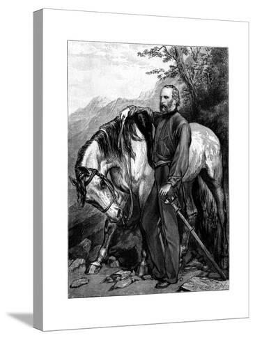 Giuseppe Garibaldi, Italian Patriot and Soldier of the Risorgimento--Stretched Canvas Print