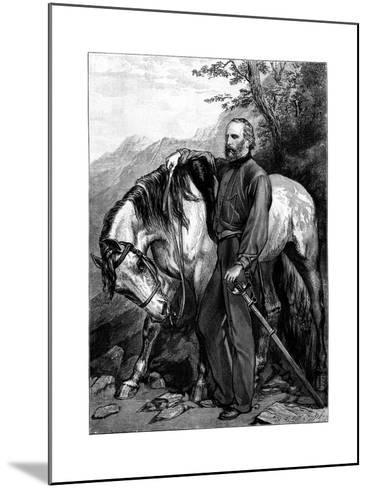Giuseppe Garibaldi, Italian Patriot and Soldier of the Risorgimento--Mounted Giclee Print