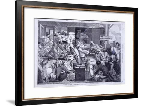Break of Gauge at Gloucester, Gloucestershire, 6th June 1846-WJ Linton-Framed Art Print