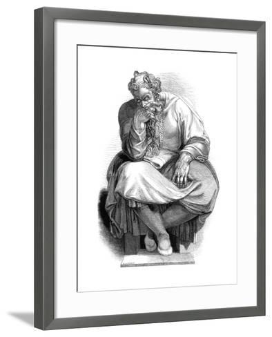 The Prophet Jeremiah, 1844-WJ Linton-Framed Art Print