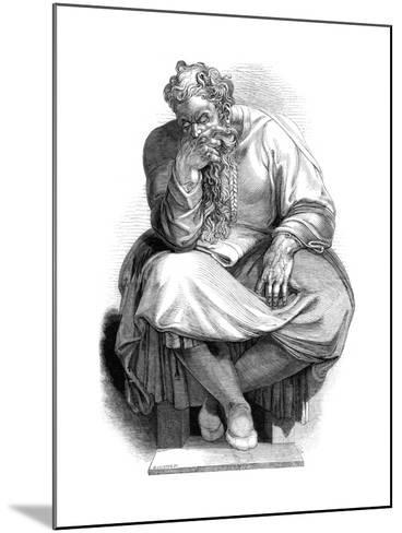 The Prophet Jeremiah, 1844-WJ Linton-Mounted Giclee Print