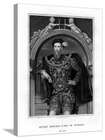 Henry Howard, Earl of Surrey, English Aristocrat and Poet-William Thomas Fry-Stretched Canvas Print