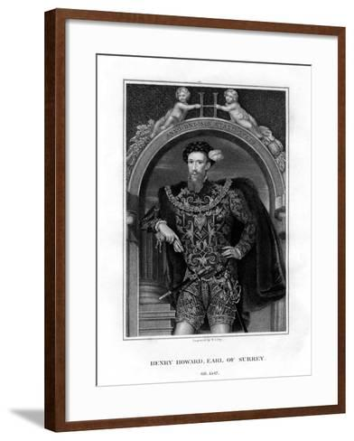 Henry Howard, Earl of Surrey, English Aristocrat and Poet-William Thomas Fry-Framed Art Print
