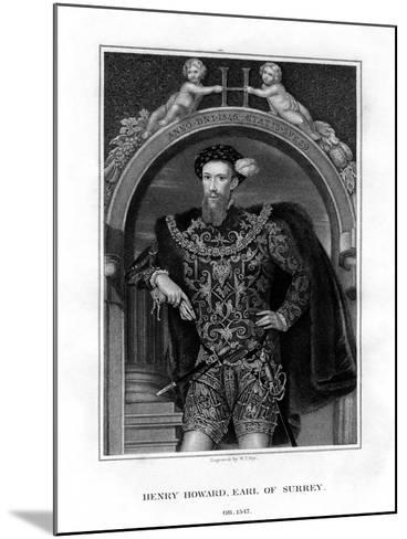Henry Howard, Earl of Surrey, English Aristocrat and Poet-William Thomas Fry-Mounted Giclee Print