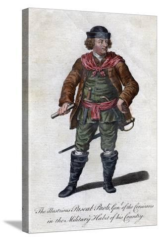 Pascal Paoli, 18th Century Corsican General and Patriot--Stretched Canvas Print