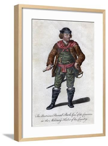 Pascal Paoli, 18th Century Corsican General and Patriot--Framed Art Print