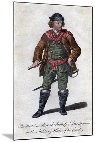 Pascal Paoli, 18th Century Corsican General and Patriot--Mounted Giclee Print