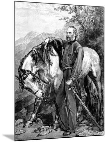 Giuseppe Garibaldi, Italian Patriot and Soldier of the Risorgimento, 1861--Mounted Giclee Print