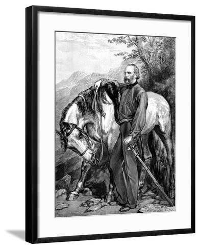 Giuseppe Garibaldi, Italian Patriot and Soldier of the Risorgimento, 1861--Framed Art Print