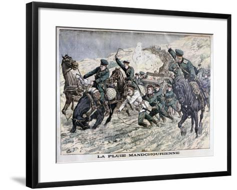 In the Mud of Manchuria, Russo-Japanese War, 1904--Framed Art Print