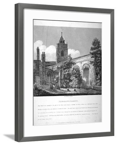 All Hallows-By-The-Tower Church, London, 1810-William Pearson-Framed Art Print
