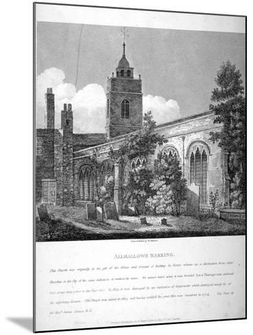 All Hallows-By-The-Tower Church, London, 1810-William Pearson-Mounted Giclee Print