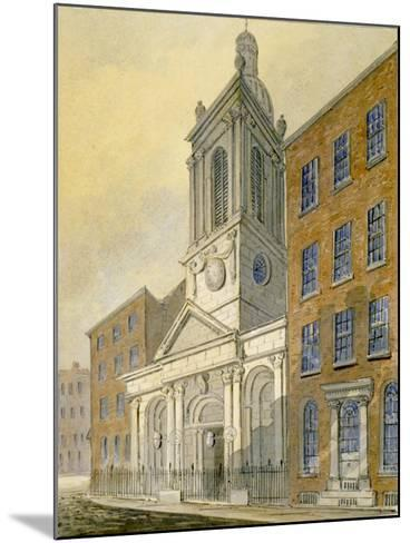 North-East View of the Church of St Peter-Le-Poer and Old Broad Street, City of London, 1815-William Pearson-Mounted Giclee Print