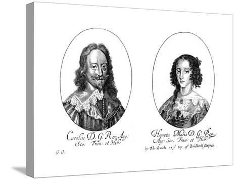 King Charles I (1600-164) and Queen Henrietta Maria (1609-166)--Stretched Canvas Print