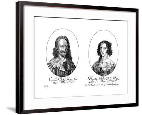 King Charles I (1600-164) and Queen Henrietta Maria (1609-166)--Framed Art Print