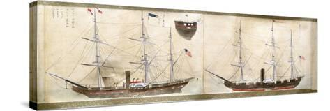 Ships of Commodore Perry's American Expedition to Japan of 1852-1854--Stretched Canvas Print